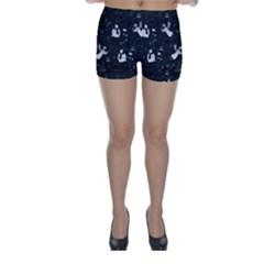 Christmas pattern Skinny Shorts