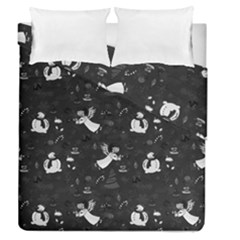 Christmas Pattern Duvet Cover Double Side (queen Size) by Valentinaart