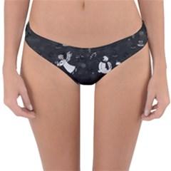 Christmas pattern Reversible Hipster Bikini Bottoms