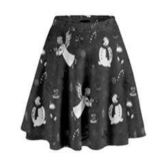 Christmas pattern High Waist Skirt