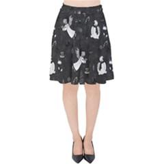 Christmas pattern Velvet High Waist Skirt