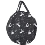 Christmas pattern Giant Round Zipper Tote