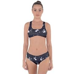 Christmas pattern Criss Cross Bikini Set