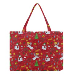 Christmas Pattern Medium Tote Bag by Valentinaart