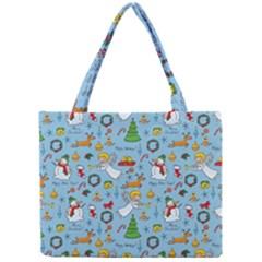 Christmas Pattern Mini Tote Bag by Valentinaart