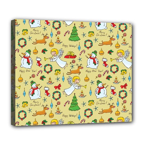 Christmas Pattern Deluxe Canvas 24  X 20   by Valentinaart