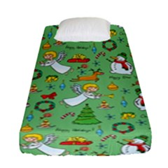 Christmas Pattern Fitted Sheet (single Size) by Valentinaart