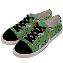 Christmas Pattern Men s Low Top Canvas Sneakers by Valentinaart