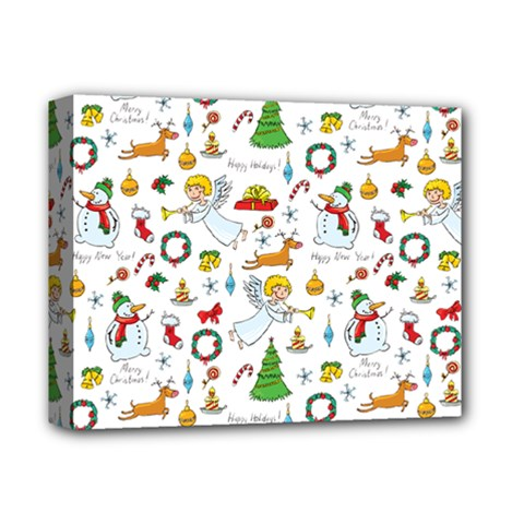Christmas Pattern Deluxe Canvas 14  X 11  by Valentinaart