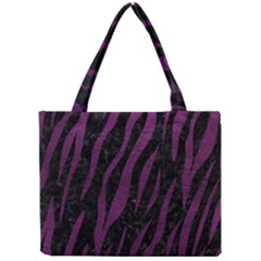 Skin3 Black Marble & Purple Leather (r) Mini Tote Bag by trendistuff