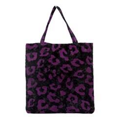 Skin5 Black Marble & Purple Leather Grocery Tote Bag by trendistuff