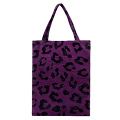 Skin5 Black Marble & Purple Leather (r) Classic Tote Bag by trendistuff