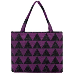 Triangle2 Black Marble & Purple Leather Mini Tote Bag by trendistuff