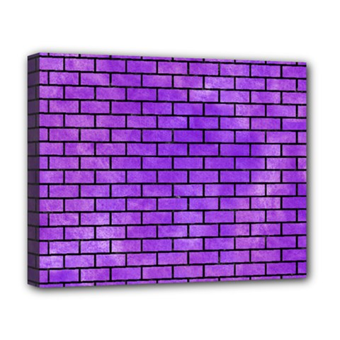 Brick1 Black Marble & Purple Watercolor Deluxe Canvas 20  X 16   by trendistuff