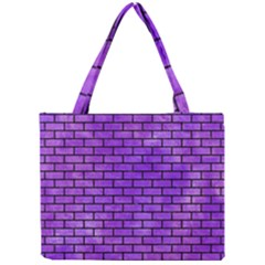 Brick1 Black Marble & Purple Watercolor Mini Tote Bag by trendistuff