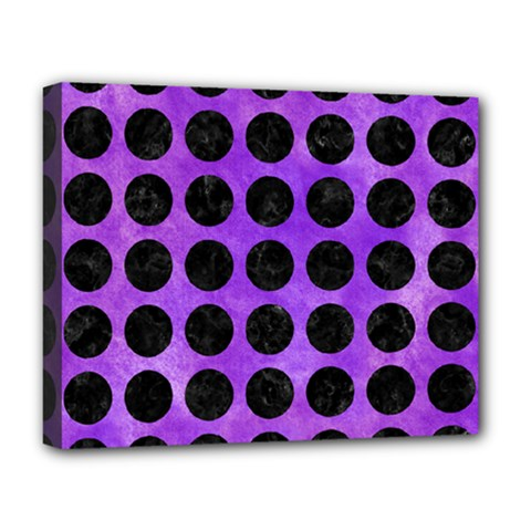 Circles1 Black Marble & Purple Watercolor Deluxe Canvas 20  X 16   by trendistuff