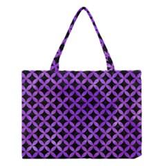 Circles3 Black Marble & Purple Watercolor (r) Medium Tote Bag by trendistuff