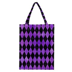 Diamond1 Black Marble & Purple Watercolor Classic Tote Bag by trendistuff