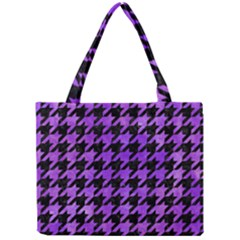 Houndstooth1 Black Marble & Purple Watercolor Mini Tote Bag by trendistuff