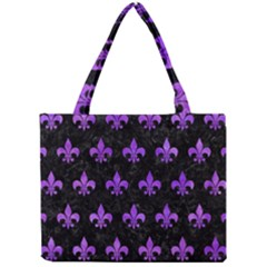 Royal1 Black Marble & Purple Watercolor Mini Tote Bag by trendistuff