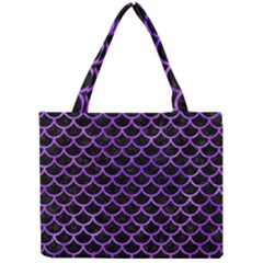 Scales1 Black Marble & Purple Watercolor (r) Mini Tote Bag by trendistuff
