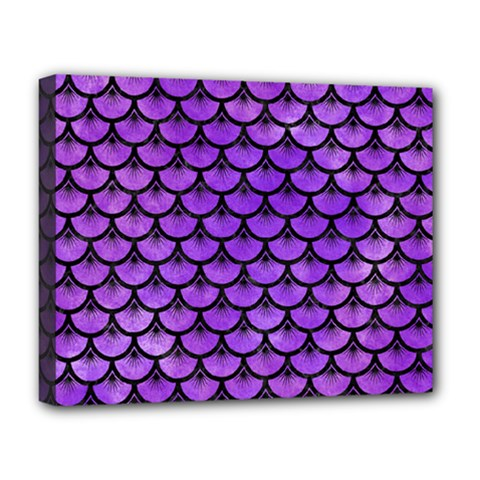 Scales3 Black Marble & Purple Watercolor Deluxe Canvas 20  X 16   by trendistuff