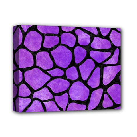Skin1 Black Marble & Purple Watercolor (r) Deluxe Canvas 14  X 11  by trendistuff