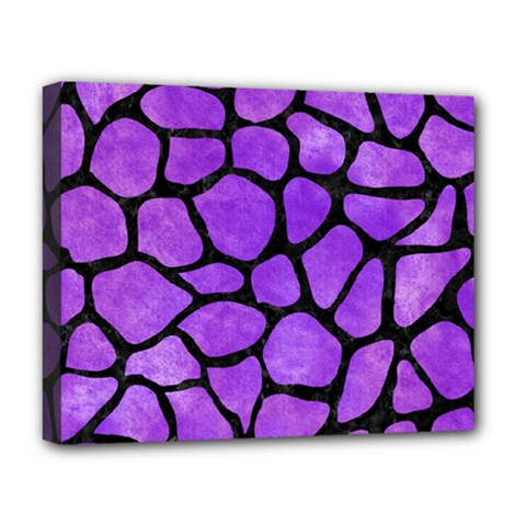 Skin1 Black Marble & Purple Watercolor (r) Deluxe Canvas 20  X 16   by trendistuff