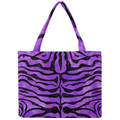 Skin2 Black Marble & Purple Watercolor Mini Tote Bag by trendistuff