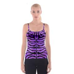 Skin2 Black Marble & Purple Watercolor Spaghetti Strap Top by trendistuff