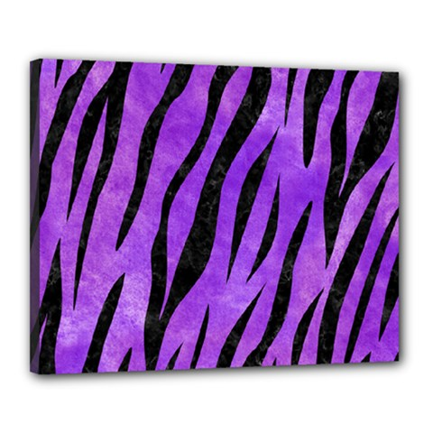 Skin3 Black Marble & Purple Watercolor Canvas 20  X 16  by trendistuff
