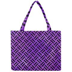 Woven2 Black Marble & Purple Watercolor Mini Tote Bag by trendistuff
