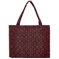 Hexagon1 Black Marble & Red Brushed Metal (r) Mini Tote Bag by trendistuff