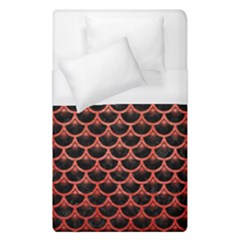 Scales3 Black Marble & Red Brushed Metal (r) Duvet Cover (single Size) by trendistuff