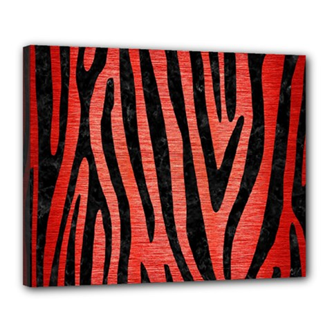 Skin4 Black Marble & Red Brushed Metal (r) Canvas 20  X 16  by trendistuff