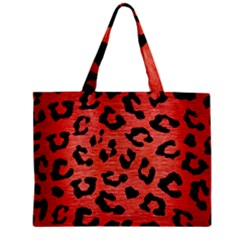 Skin5 Black Marble & Red Brushed Metal (r) Zipper Mini Tote Bag by trendistuff