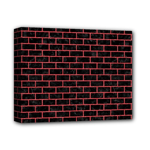 Brick1 Black Marble & Red Colored Pencil (r) Deluxe Canvas 14  X 11  by trendistuff