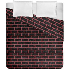 Brick1 Black Marble & Red Colored Pencil (r) Duvet Cover Double Side (california King Size) by trendistuff