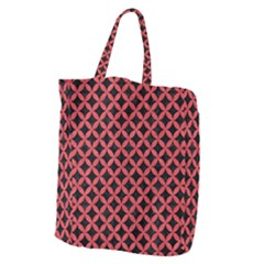 Circles3 Black Marble & Red Colored Pencil (r) Giant Grocery Zipper Tote by trendistuff