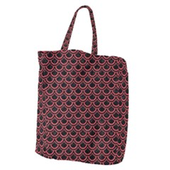 Scales2 Black Marble & Red Colored Pencil (r) Giant Grocery Zipper Tote by trendistuff