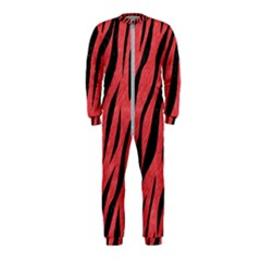 Skin3 Black Marble & Red Colored Pencil Onepiece Jumpsuit (kids)