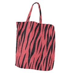 Skin3 Black Marble & Red Colored Pencil Giant Grocery Zipper Tote by trendistuff