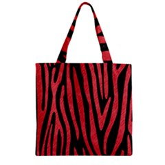 Skin4 Black Marble & Red Colored Pencil Zipper Grocery Tote Bag by trendistuff