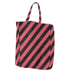 Stripes3 Black Marble & Red Colored Pencil (r) Giant Grocery Zipper Tote by trendistuff