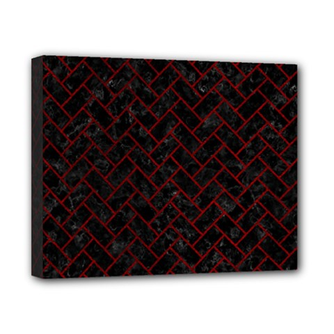 Brick2 Black Marble & Red Grunge (r) Canvas 10  X 8  by trendistuff