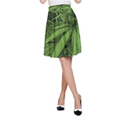 Marijuana Plants Pattern A Line Skirt by dflcprints
