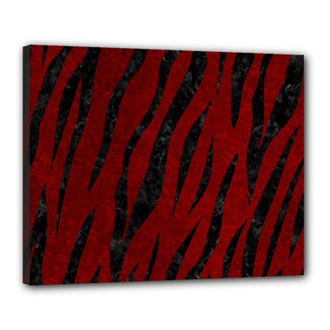 Skin3 Black Marble & Red Grunge Canvas 20  X 16  by trendistuff