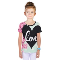 Modern Collage Shabby Chic Kids  One Piece Tee by 8fugoso