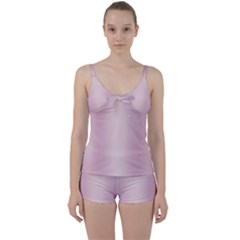 Beautiful,rose Gold,pattern Tie Front Two Piece Tankini by 8fugoso