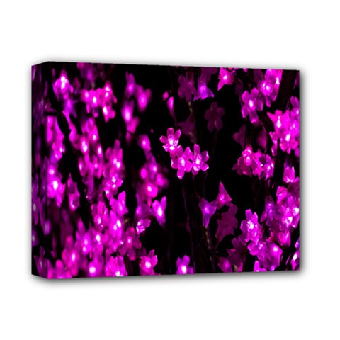 Abstract Background Purple Bright Deluxe Canvas 14  X 11  by Onesevenart
